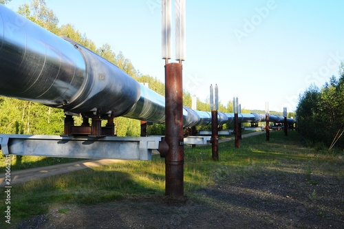Keuken foto achterwand Nasa Oil pineline in Fairbanks, Alaska