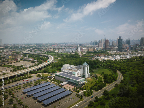 Fototapeta Aerial of Jersey City New Jersey