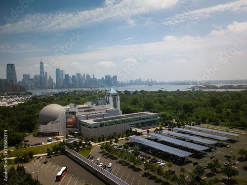 Aerial of Jersey City New Jersey Canvas-taulu