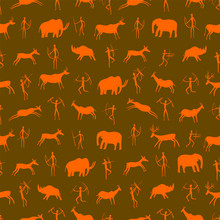 Seamless Pattern. Ancient Rock...