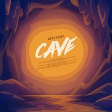 Cave Landscape. Mountain Scene.