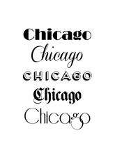 Chicago City Text Isolated On ...