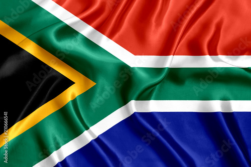 Fototapeta Flag of South Africa silk