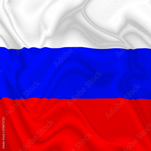 In de dag Draw Russia Waving Flag Digital Silk Satin Textile