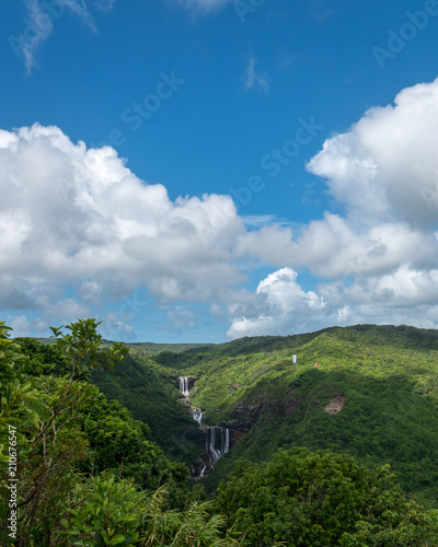 Staande foto Bleke violet Tamarind waterfall