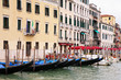 VENICE, ITALY - MAY 8, 2010: View of the Grand Canal whit traditional Gondola in Venice, Italy.