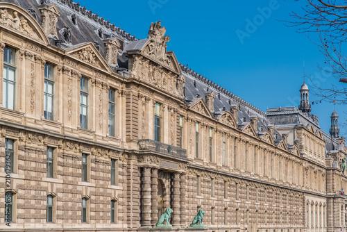 Papiers peints Con. ancienne Paris, France, the Louvre museum