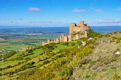 Deurstickers Rudnes Castillo de Loarre in Aragonien, Spanien - Castillo de Loarre near Huesca, Aragon