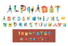 Alphabet Stationery Letters Ve...