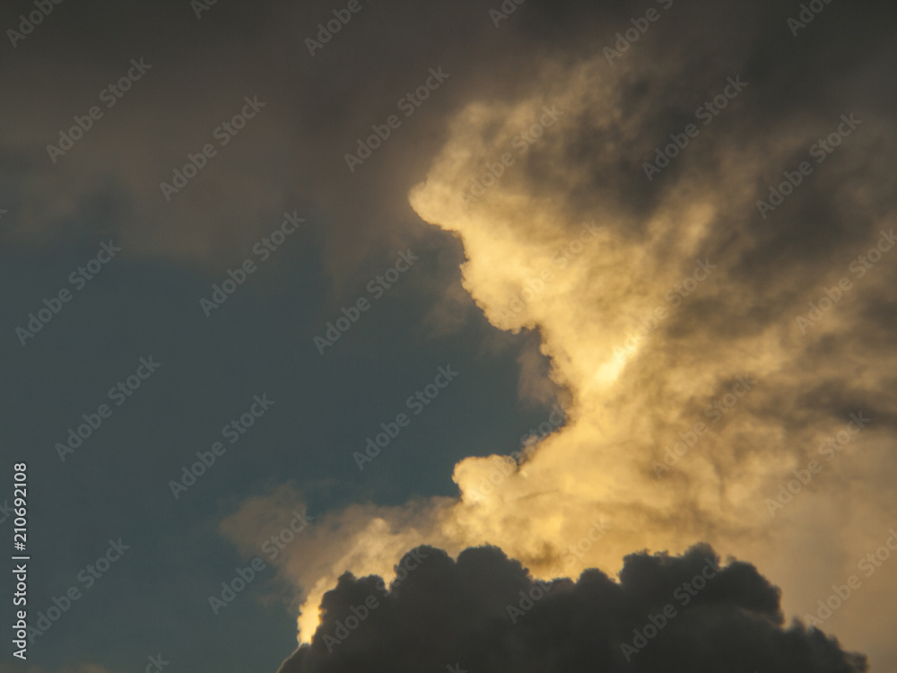 959414444 Clouds, rain, sky / The sky in the rainy season of tropical countries  Fotografia, Obraz na Posters.sk