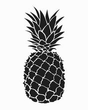 Illustration Of Pineapple. Bla...