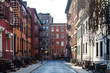 Historic block of buildings on Gay Street in Greenwich Village neighborhood of Manhattan in New York City