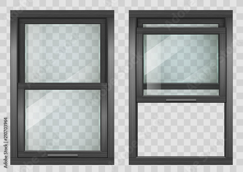 Wooden Sliding window Canvas-taulu