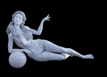 3d Render Of Marble Venus