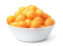 Bowl Full Of Cheese Puff Balls