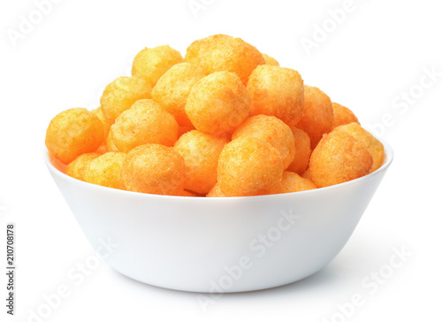 Bowl full of cheese puff balls Canvas-taulu