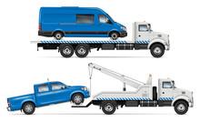 Realistic Tow Truck Vector Moc...