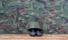 Old Worn Military Helmet