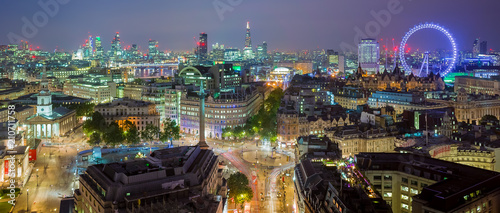 Poster London The London Skyline Panoramic