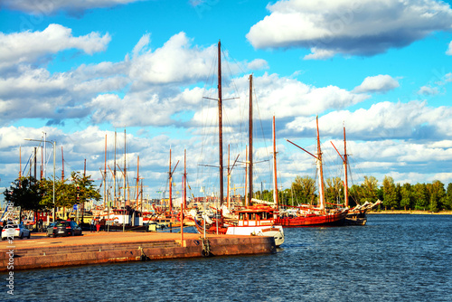 Poster Turquie Port of Helsinki, Finland during the sunny day with boats and yachts