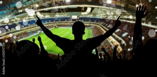 fototapeta na szkło Fans im Fussball Stadion