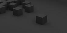Abstract Concept Of Black Cube...