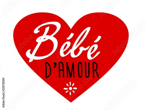 Bébé Damour Coeur Buy This Stock Vector And Explore