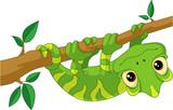 Fototapeta Fototapety na ścianę do pokoju dziecięcego - Chameleon on Branch