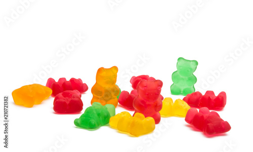 Deurstickers Snoepjes jelly bears isolated