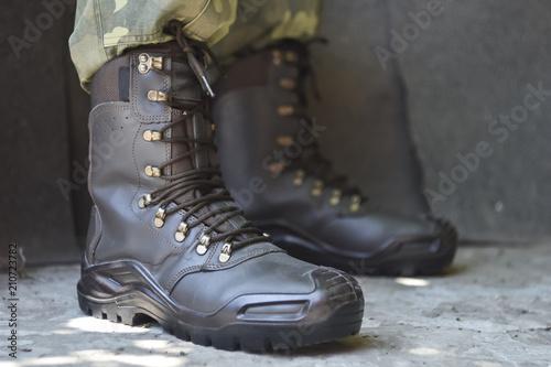 Fotografía  Army uniform military boots and pants