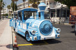 A fun city train for sightseeing in the island of Kos, Greece