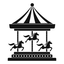 Horse Carousel Icon. Simple Il...