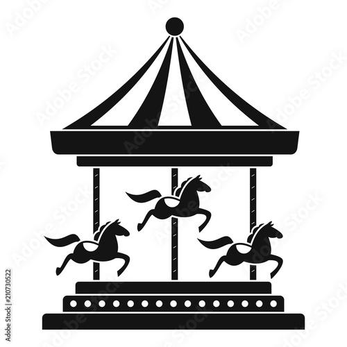 Fotografie, Obraz Horse carousel icon