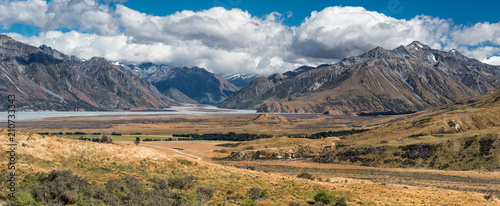 Photo  Mount Sunday Panorama, Canterbury - Südinsel von Neuseeland