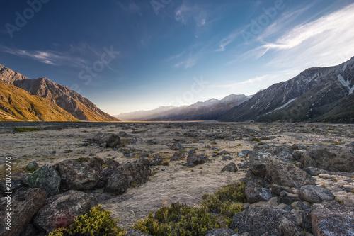 Photo  Tasman Valley, Mount Cook National Park - Südinsel von Neuseeland