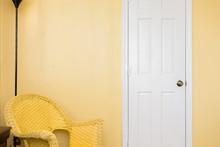 Yellow Corner Nook; Empty Wall...