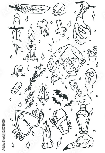 Tattoo flash set Tapéta, Fotótapéta