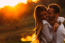 Passionate Hug Of A Couple In ...