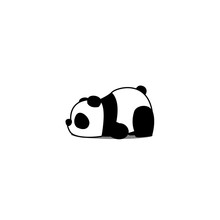 Lazy Panda Cartoon, Vector Ill...