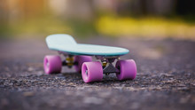 Blue Penny Board With Pink Whe...