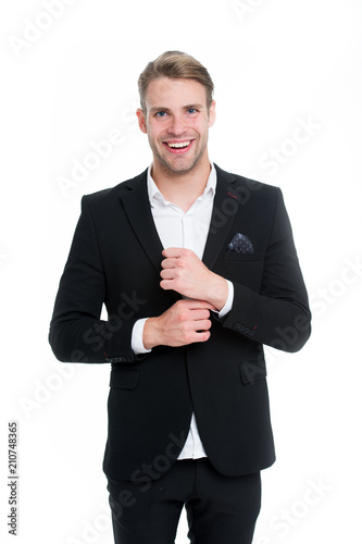 Professional Dress Code Man Happy Well Groomed In Formal Suit