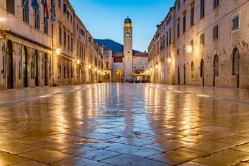 Fototapeta Old town of Dubrovnik at twilight, Dalmatia, Croatia