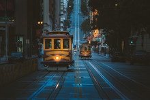 San Francisco Cable Cars At Tw...