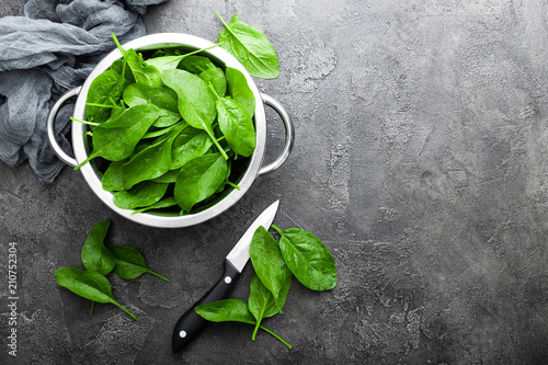 Spinach. Fresh spinach leaves