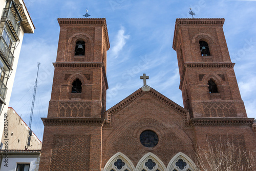 Amazing view of Virgen de la Paloma church in City of Madrid, Spain