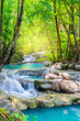 canvas print picture Beautiful waterfall in National Park