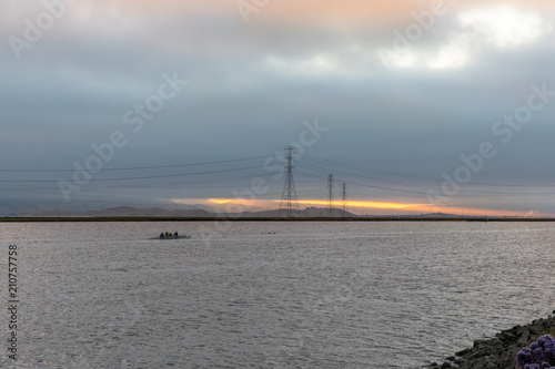 Fotografie, Obraz  Rowers on the Bay at Dawn, San Francisco Bay