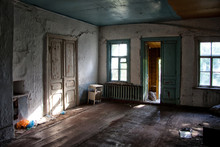 Old Forgotten Abandoned House Interior