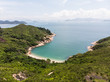 Stunning view of an isolated beach and bay in Cheung Chau island in Hong Kong, China