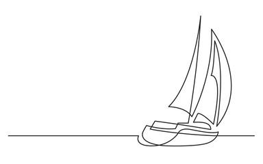 kontinuirano crtanje jedrilice
